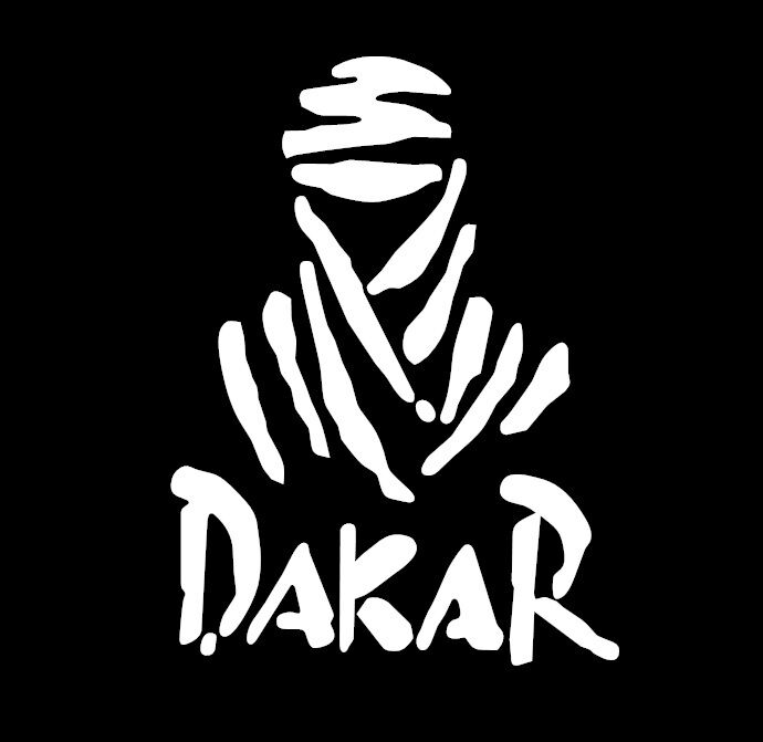 Dakar Logo Sticker Decal 170 X 100mm White