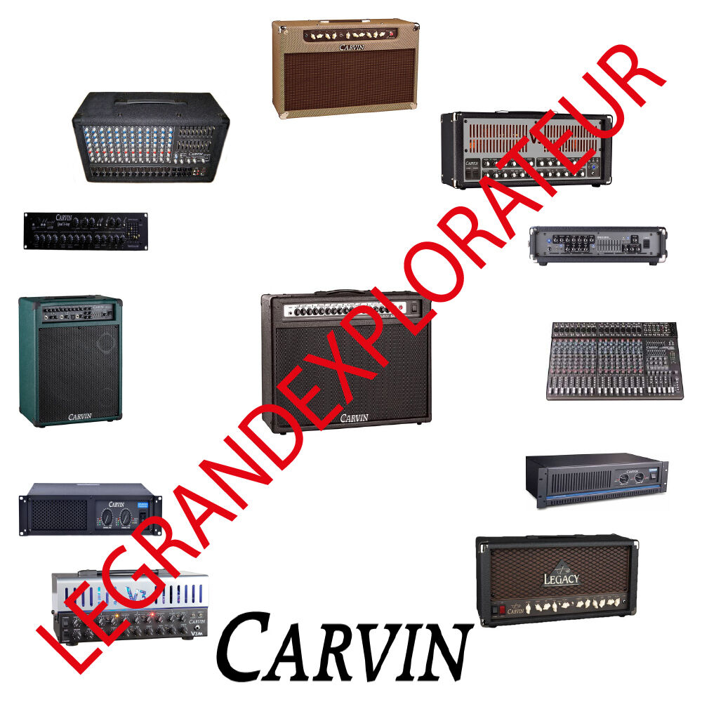 Ultimate Carvin Amplifier Repair Service Manual Schematics 450 Pdf B Wiring Diagrams On Dvd Ebay