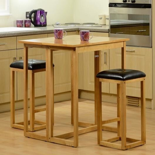 bar breakfast table stool set furniture kitchen oak wood. Black Bedroom Furniture Sets. Home Design Ideas
