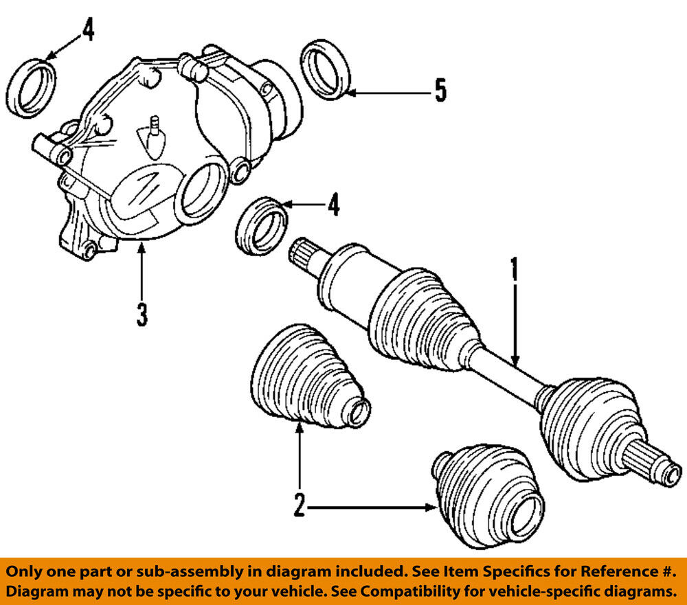 Bmw Oem 07 13 328i Front Drive Cv Shaft Axle Assy 31607558950 Ebay 2008 335i Wiring Diagram