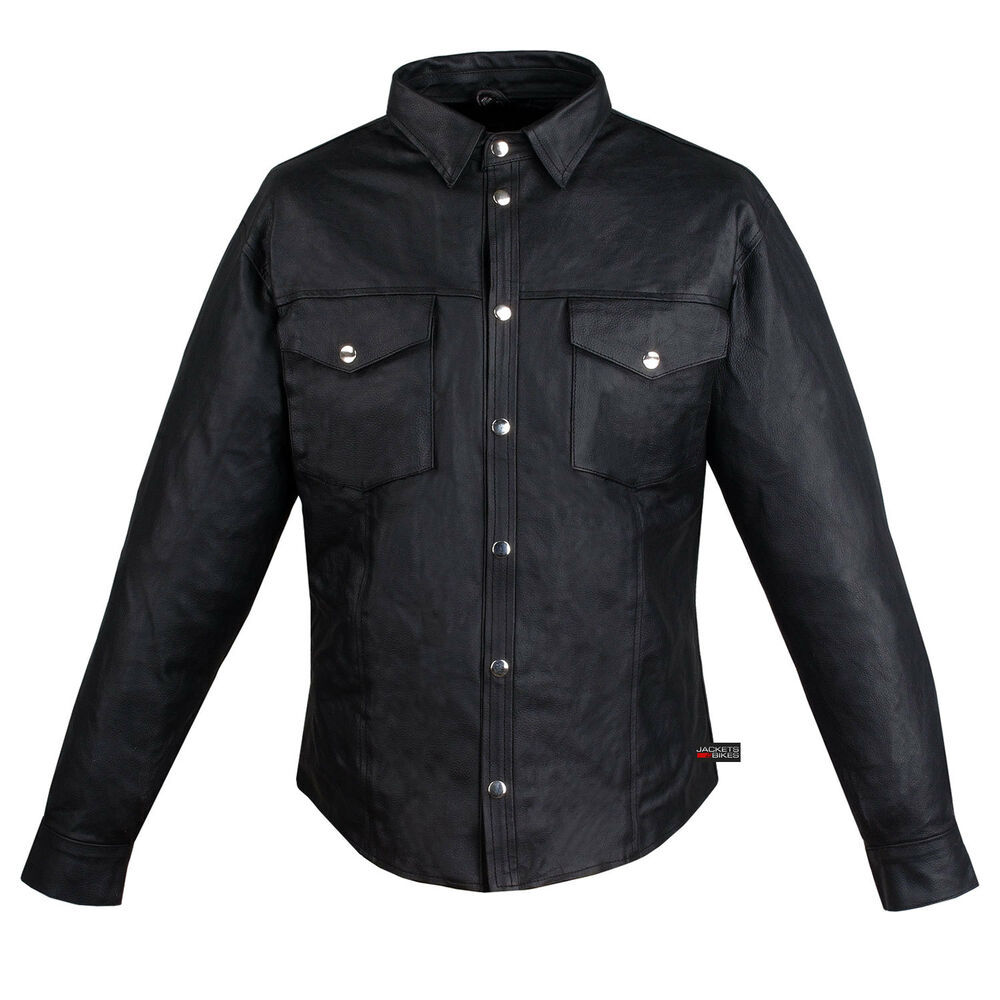 gay mens leather shirt