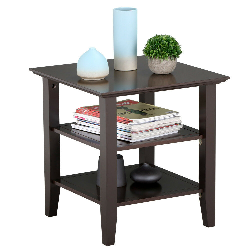 Wood End Table Coffee Side Stand Modern Living Room ...