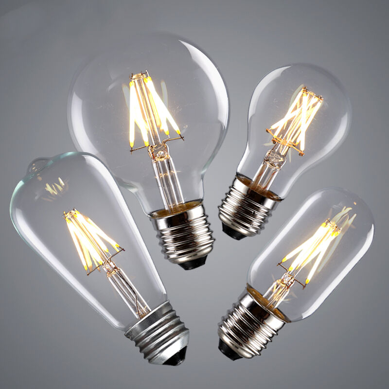 vintage 220v 240v led edison bulb e27 e14 2w 4w 6w 8w led filament light bulb ebay. Black Bedroom Furniture Sets. Home Design Ideas