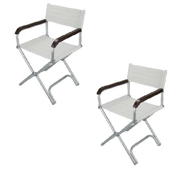 Deck Chair Marine Grade Alloy Folding Directors Chairs X 2