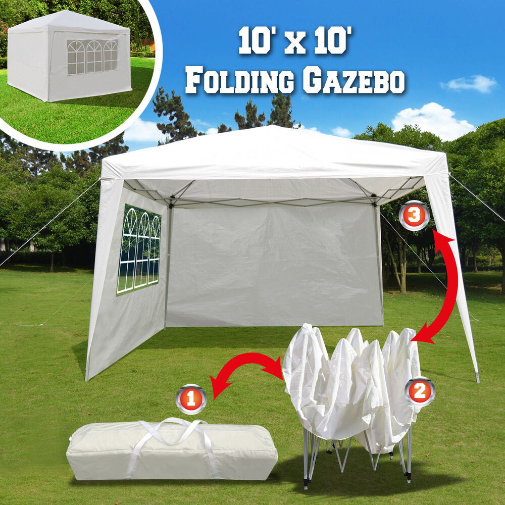 10 X10 Ez Pop Up Folding Gazebo Canopy Party Wedding Tent