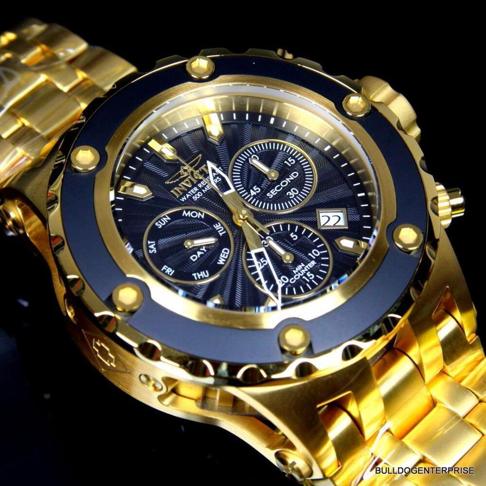 invicta subaqua specialty swiss gold plated steel