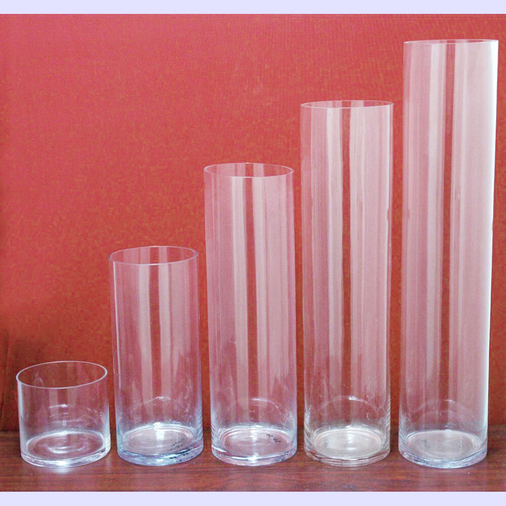 Clear cylinder glass vase table centerpiece pack