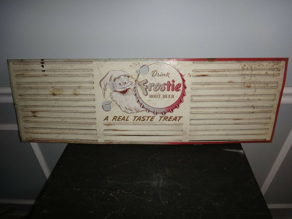 Rare Frosty Root Beer Sign Tin Menu Specials Letter Board