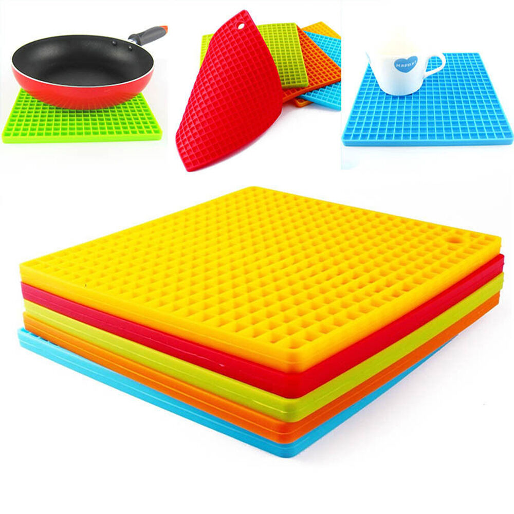 Silicone Pot Holders: Kitchen Table Pad Tools Silicone Pot Holder Trivet Mat
