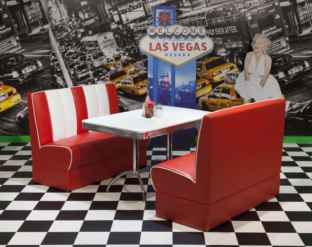 American Diner Furniture 50s Style Retro Booth Table And