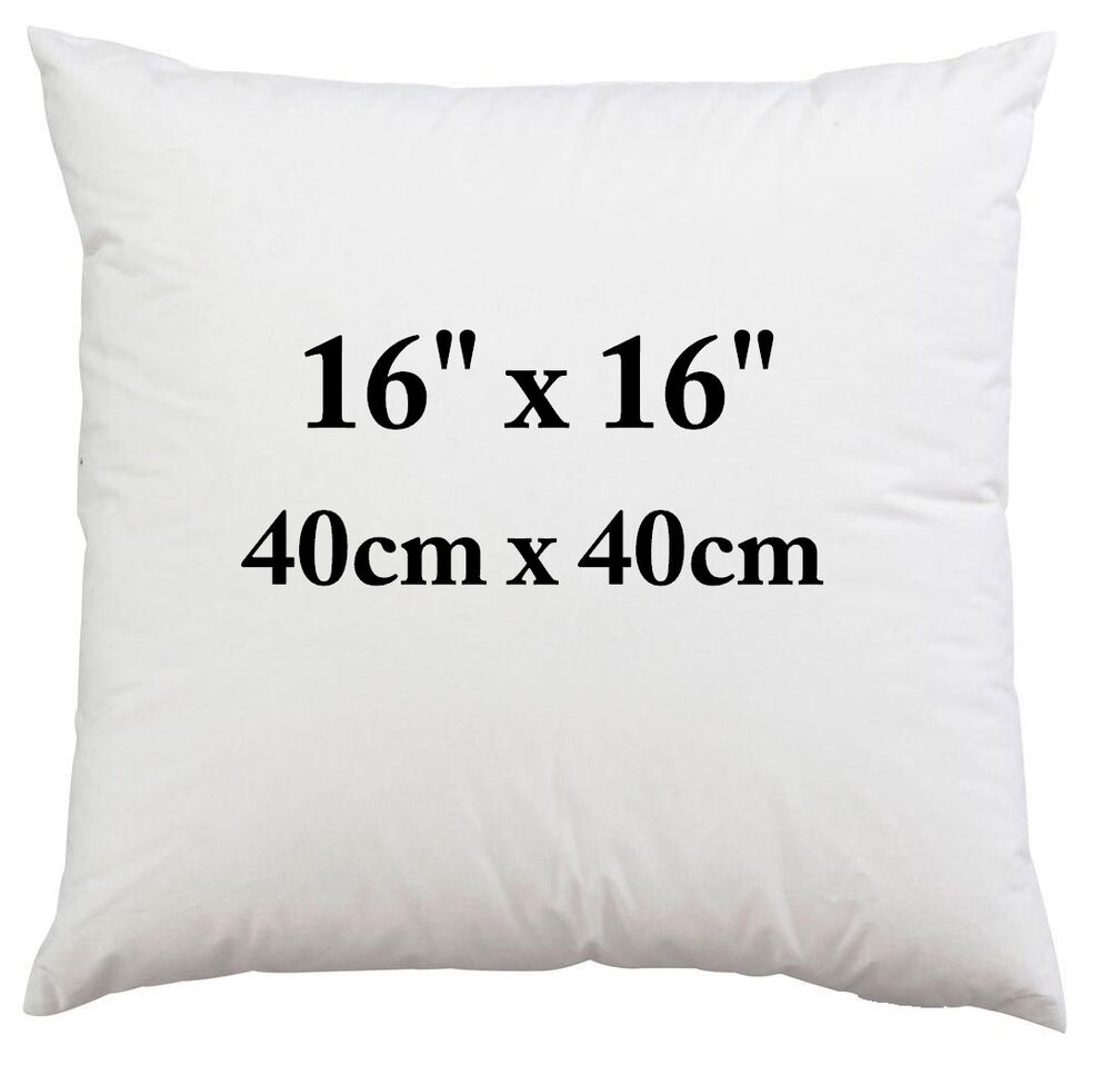16 Inch Cushion Inner Pad Pads Fillers Inserts Sofa Bed 5056141602400 Ebay