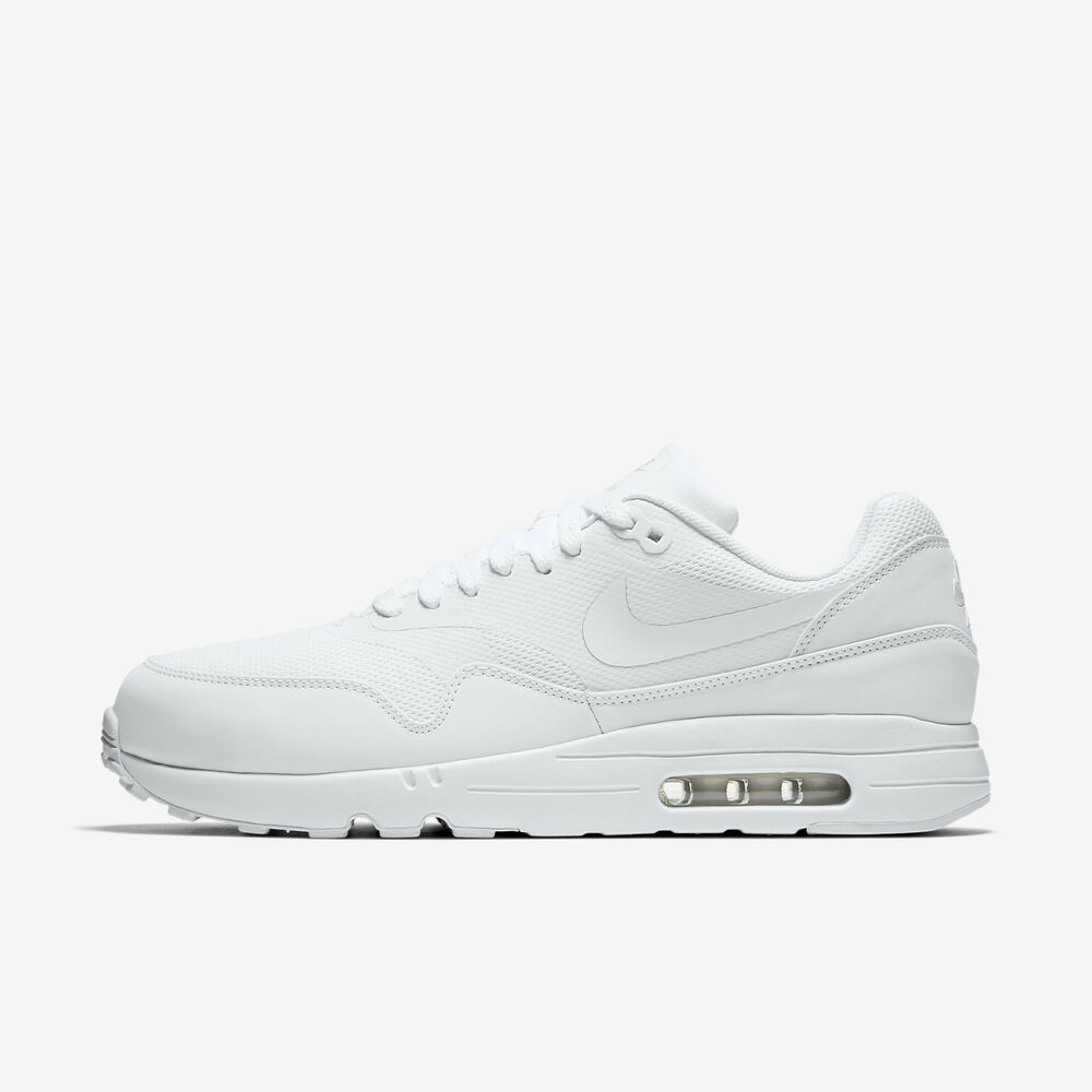 51ca1c843d7 NIKE AIR MAX 1 ULTRA 2.0 ESSENTIAL 875679 100 TRIPLE ALL WHITE PURE  PLATINUM