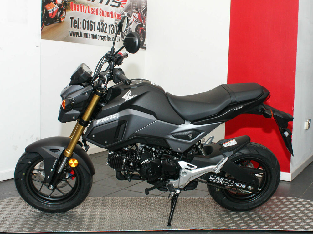 new 2017 model honda msx125 grom with abs matt grey 2 995 on the road ebay. Black Bedroom Furniture Sets. Home Design Ideas