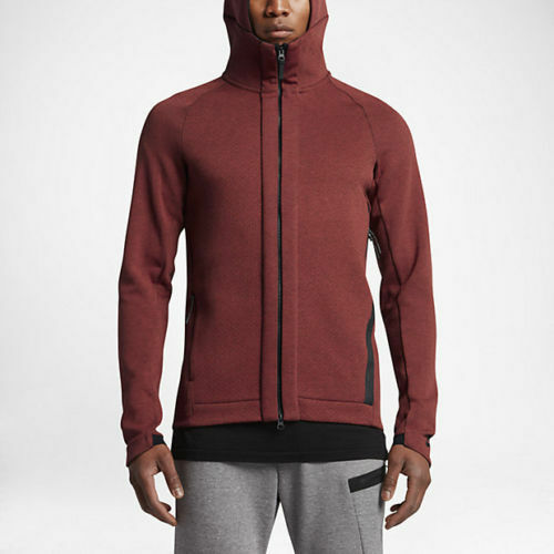 6690409eba08 Details about NEW Nike Mens Tech Fleece Full Zip Hoodie Cayenne 832112 674  SZ Medium Tech Pack