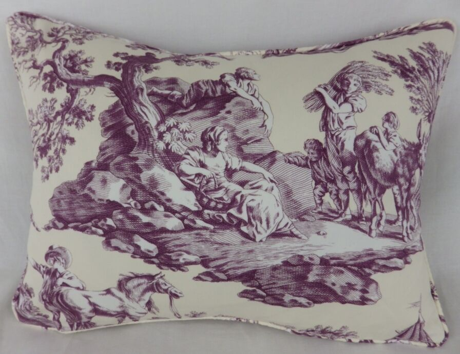 Shabby Chic French Toile de Jouy Lumbar Pillow Scatter Cushion eBay