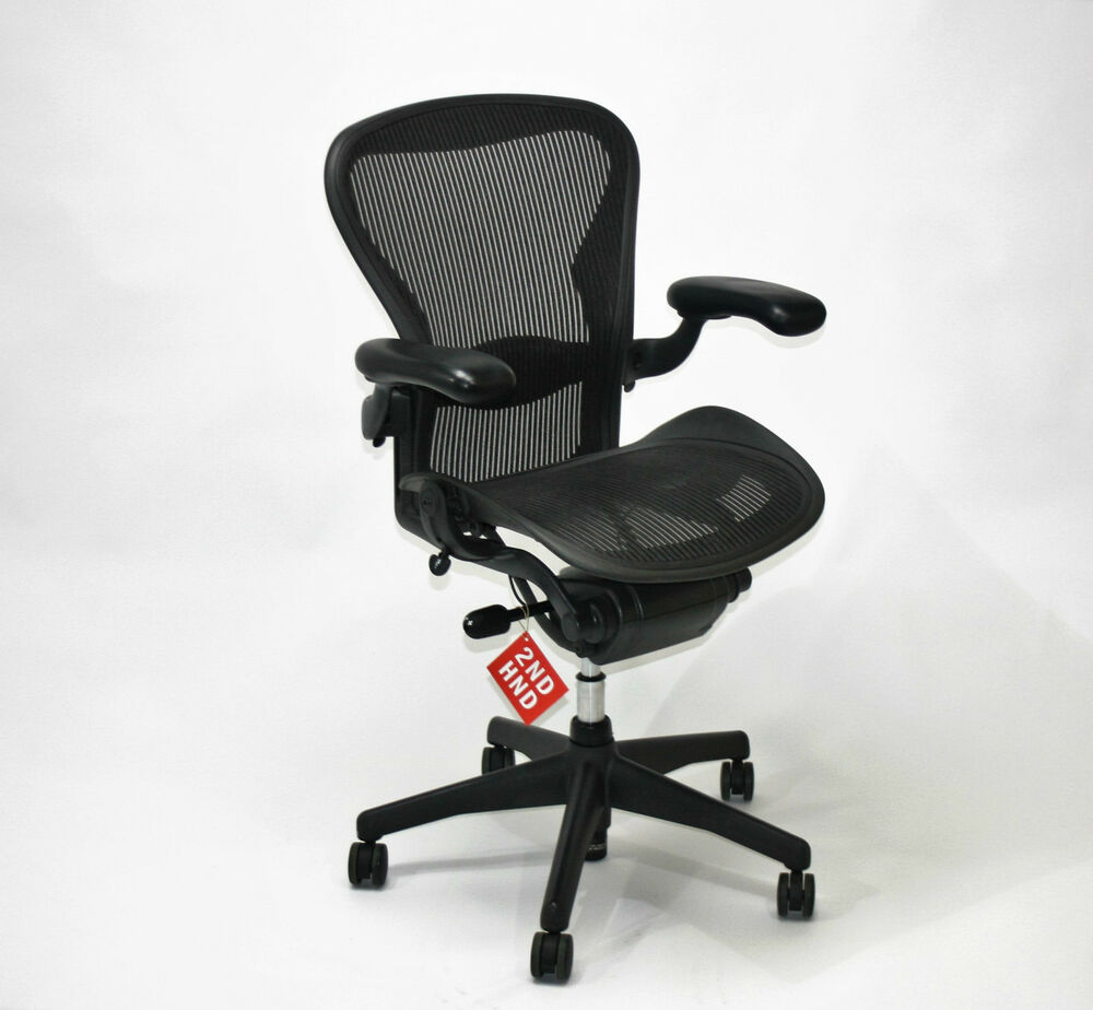 herman miller aeron chair size b ebay. Black Bedroom Furniture Sets. Home Design Ideas