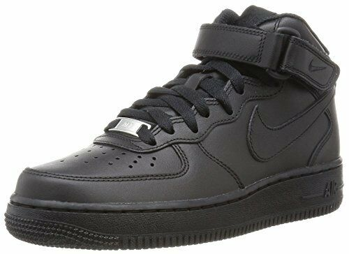 NIKE AIR FORCE 1 MID BLACK 366731001 SNEAKERS MODA Donna