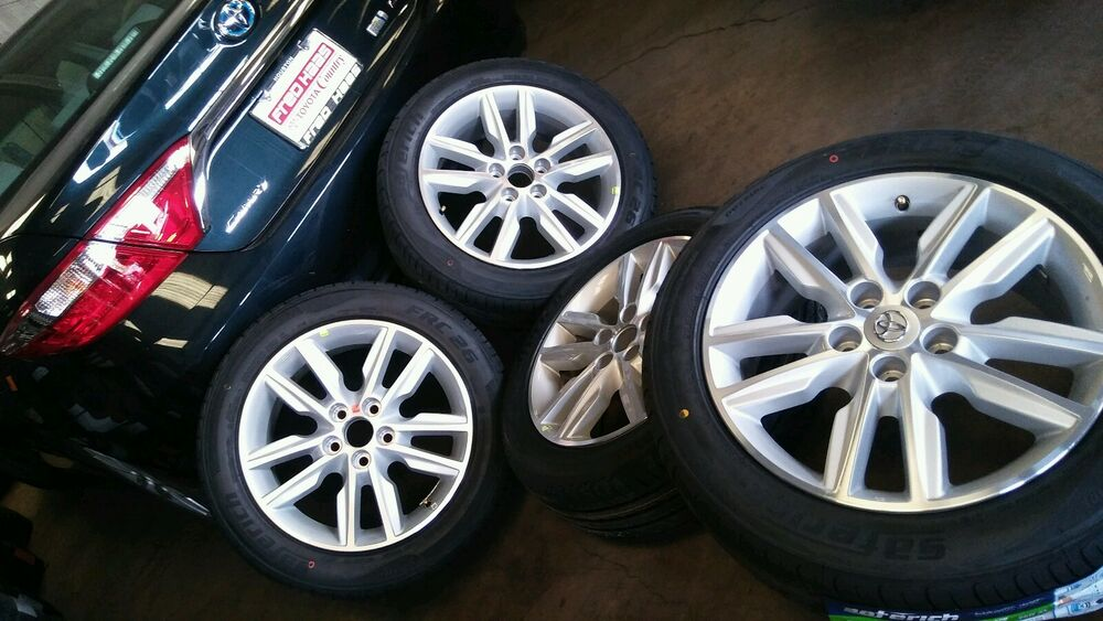 17 toyota avalon camry corolla rav4 oem stock wheel tire package wheels only ebay. Black Bedroom Furniture Sets. Home Design Ideas