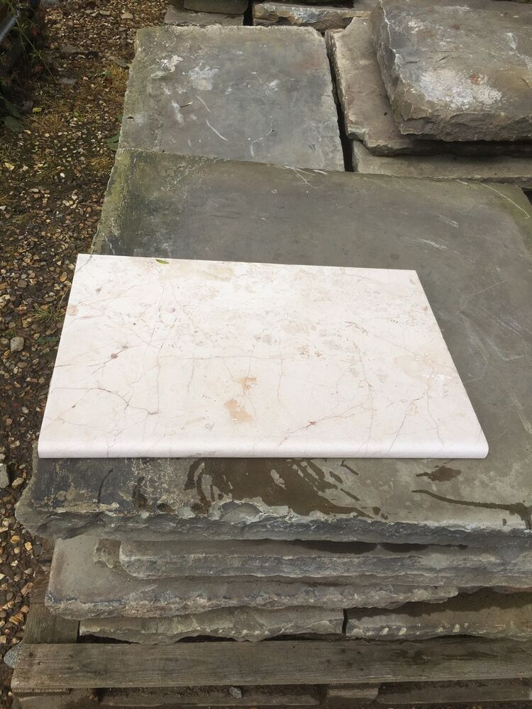 solid marble slabs 600 x 400 mm with bull nose 30 mm thick