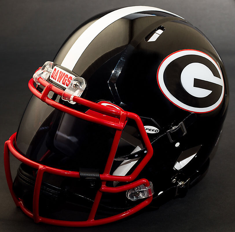 georgia bulldog helmets custom georgia bulldogs ncaa riddell speed full size 8872