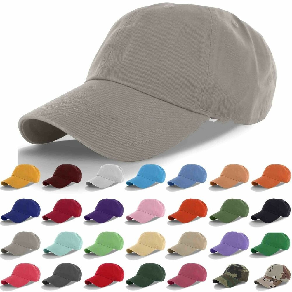 Polo Style Curved Stone Washed Cotton Plain Baseball Cap