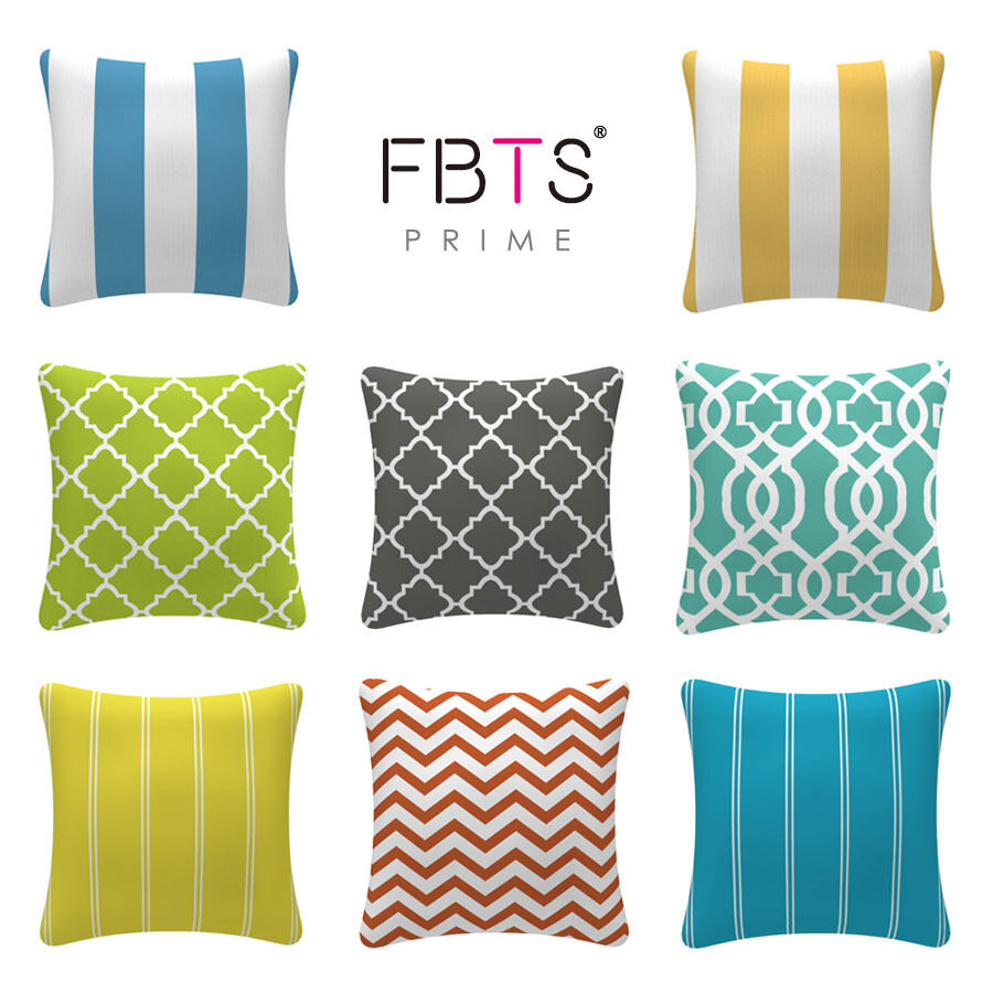 Throw Pillow Cover And Insert : FBTS Prime 18? x 18
