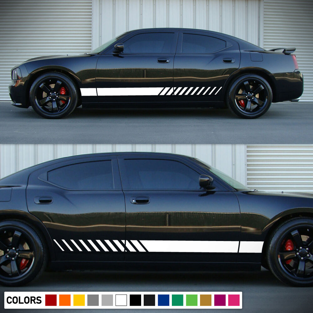 Decal Graphic Side Stripe Kit For Dodge Charger Hemi Rt