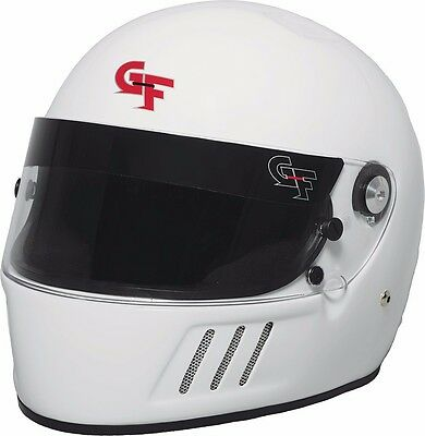 G Force Racing 3123 Small White GF 3 Full Face Helmet Snell SA-2015