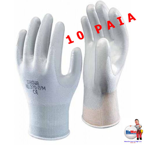 GUANTI SHOWA 370 ASSEMBLY GRIP - confezione da 10 paia (tg. 7-8-9-10)