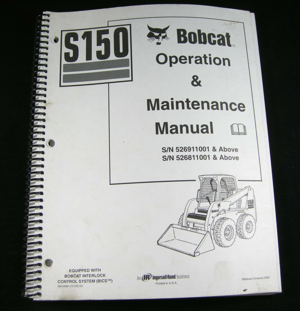 Bobcat s150 skid steer loader operation maintenance manual book bobcat s150 skid steer loader operation maintenance manual book catalog ebay fandeluxe