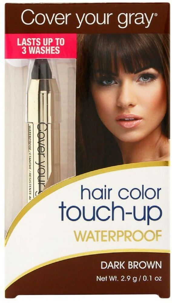 Cover Your Gray Hair Color Waterproof Touch Up Stick Dark