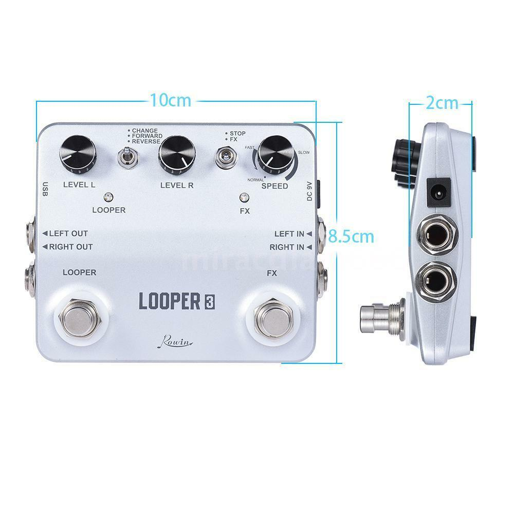 rowin looper3 guitar effects pedal mono stereo input output sound recording f0k3 ebay. Black Bedroom Furniture Sets. Home Design Ideas