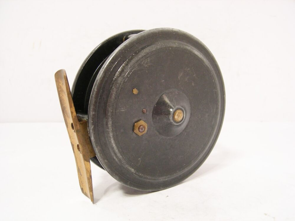 Vintage antique alloy dingley 3 trout fly fishing reel for Antique fishing reels