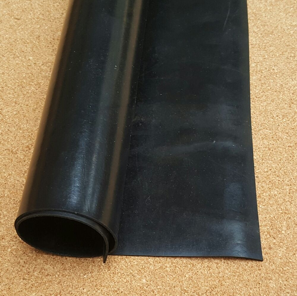 Neoprene Solid Rubber Sheet Black Smooth Finish In 1mm
