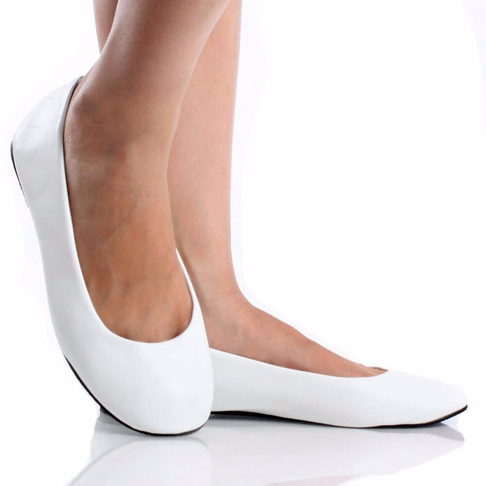 Womens Ballet Flat Round Toe Casual Shoe