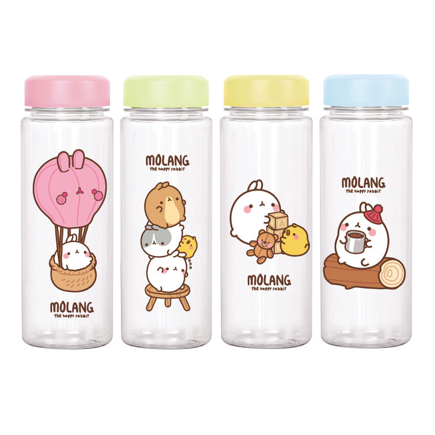 cute water bottles molang lovely water bottle tumbler portable tritan 30574