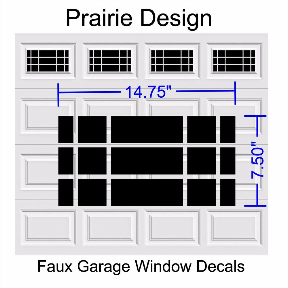 Garage Door Vinyl Window Decals: Prairie Faux Window Garage Door Vinyl Decals Plus Ver 3