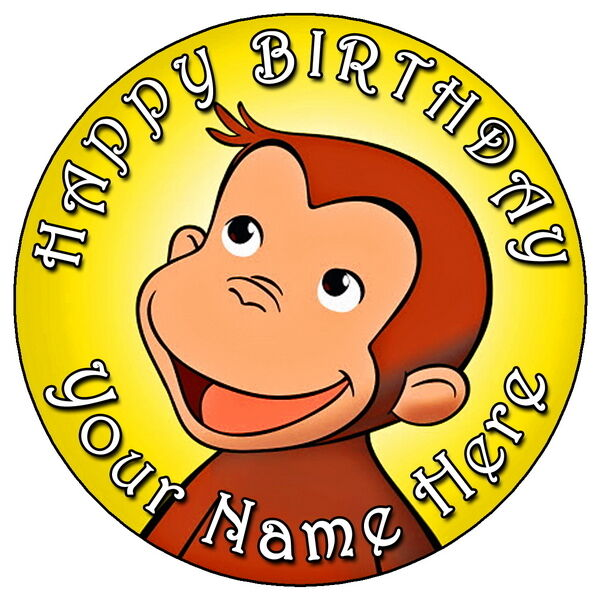 Curious George Party 7 5 Quot Personalised Round Edible