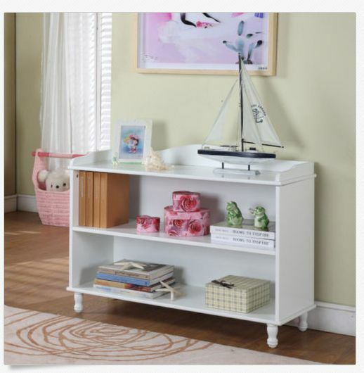 Kids white bookcase wood bedroom furniture girls teen for White bookcase for kids room