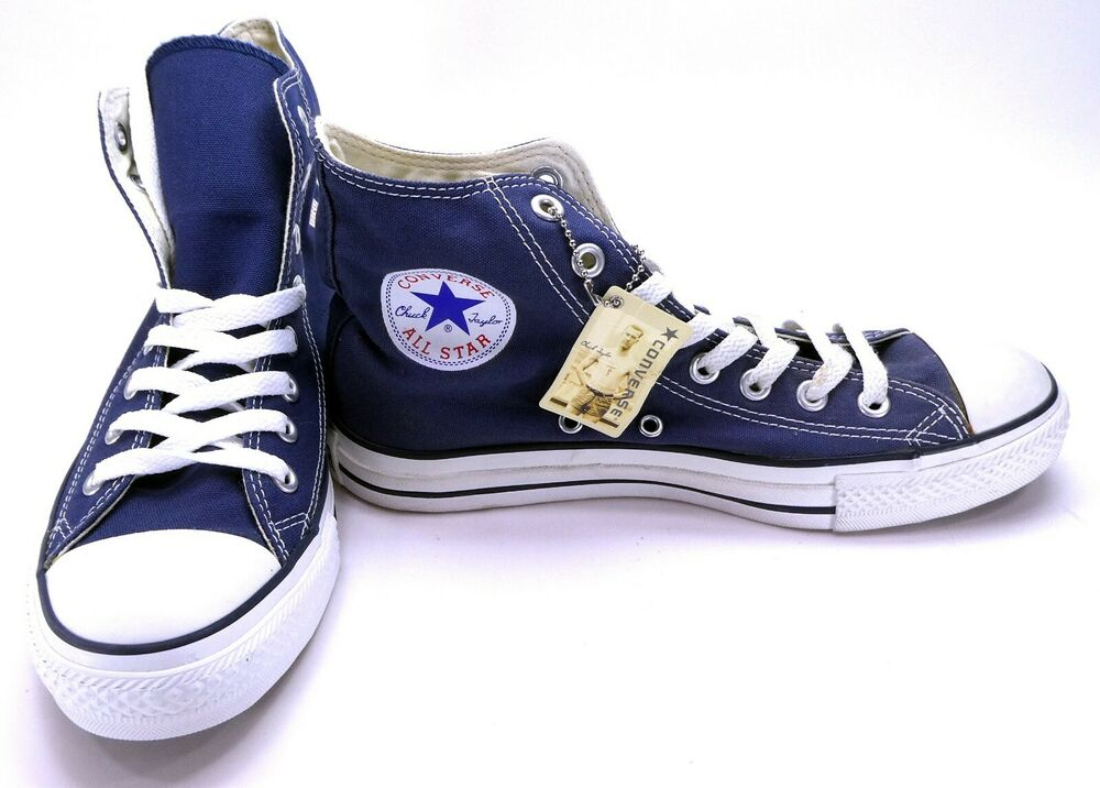 d1f77cad6aed Details about Converse Shoes Chuck Taylor Hi All Star Navy Blue Sneakers  Men 7 Womens 9