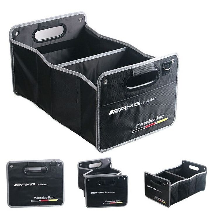 Mercedes benz amg edition boot trunk organizer collapsible for Mercedes benz car trunk organizer