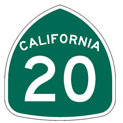 California State Route 20 Sticker Decal R1003 Highway Sign Road Sign