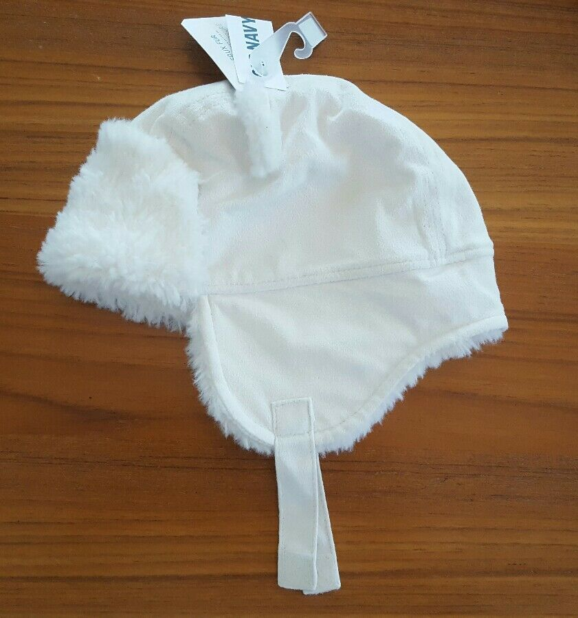 Details about NEW Old Navy Girls Boys 6-12 12-18 18-24 MONTHS White Trapper Hat  WINTER  21117 3c522f7e5491