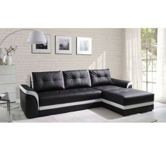 new milano leather corner modern lh rh sofa bed storage. Black Bedroom Furniture Sets. Home Design Ideas
