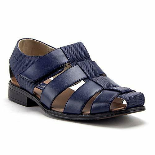 9f10bf15faf2f0 New Men s Leather Lined Caged Closed Toe Slip On Casual Fisherman Dress  Sandals