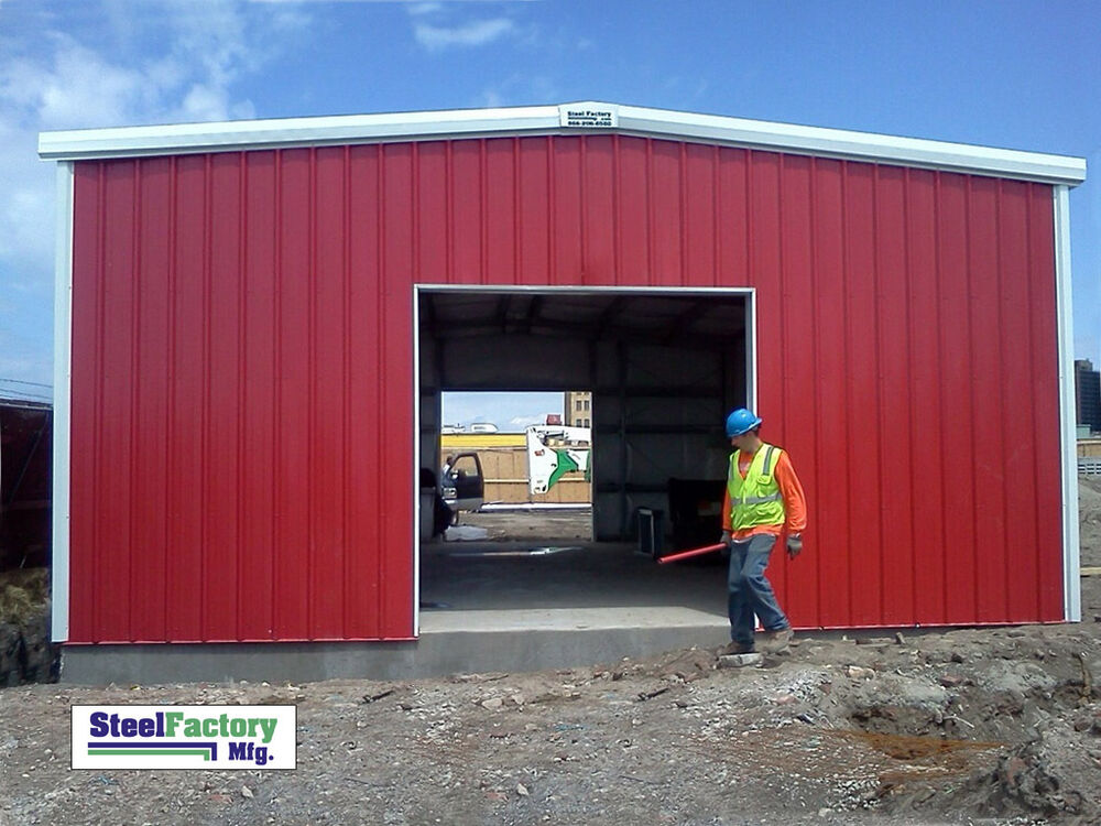 steel factory mfg 30x50x10 auto body garage workshop storage metal building kit