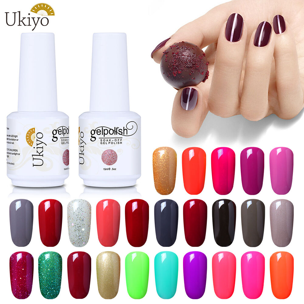 Uv Gel Nail Polish: Ukiyo Classic Range 15ml Soak Off UV Gel Nail Polish No