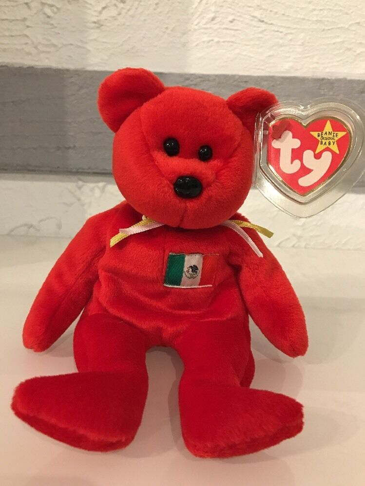 f11b30b0026 Details about Osito  the Mexican Bear TY Beanie Baby - original NO number  on tush tag