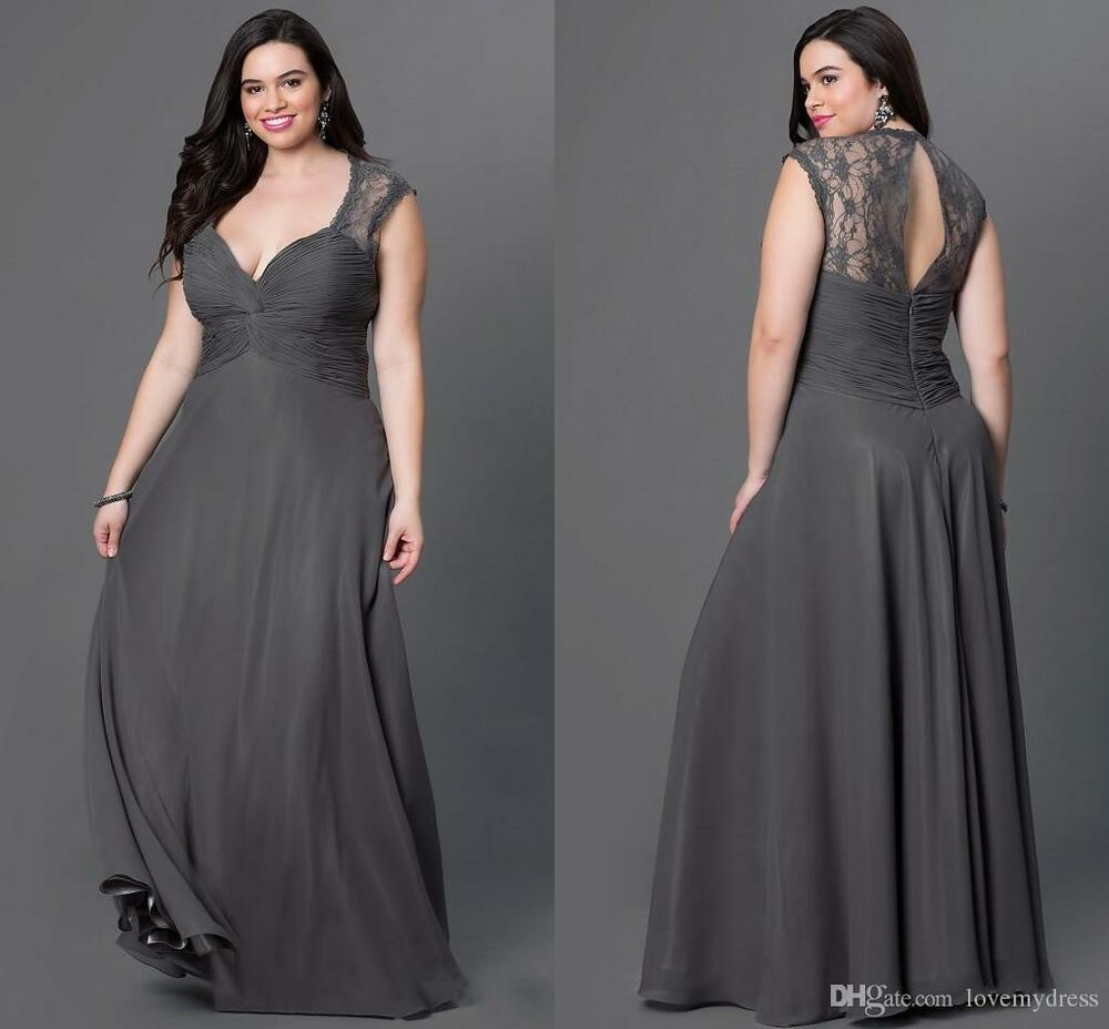 Chiffon plus size mother of the bride dresses long evening for Plus size formal dresses for weddings