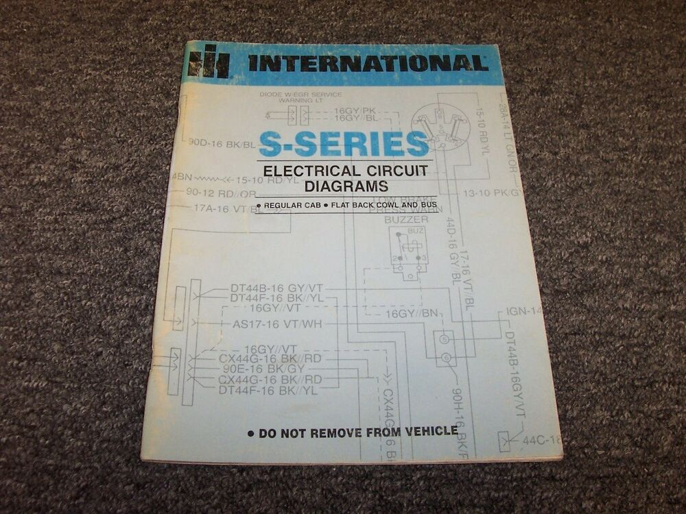 International S-Series S2500 S2600 Truck Electrical Circuit Diagram on international s1900, international s1800, international 175 manure spreader, international s1600, international s1700,